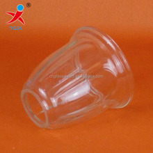 Clear cup shape machine pressed pending glass lamp shades