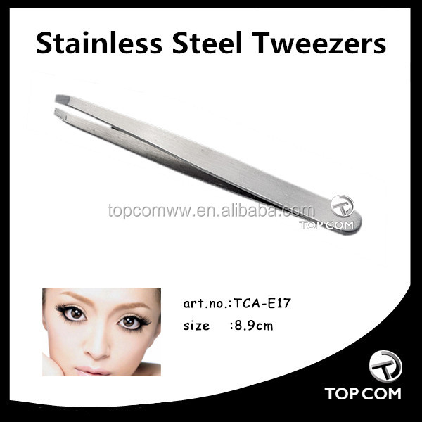 Cheap girl eyebrow tweezer slanted