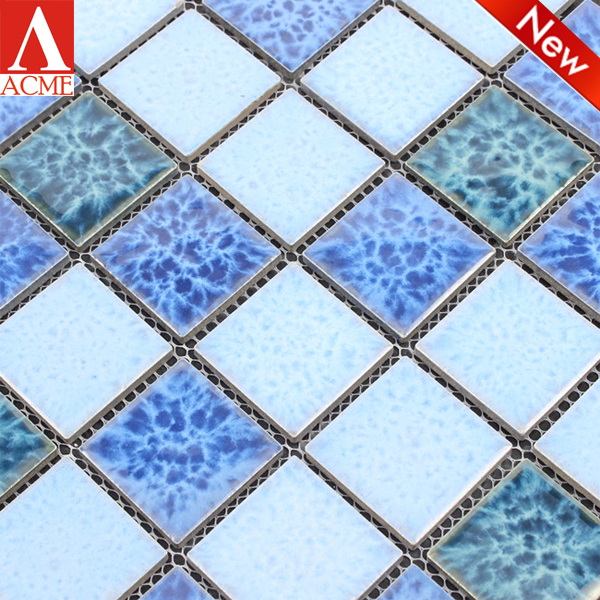 china manufacturer best selling mixed ceramic mosaic tile swimming pool floor tile