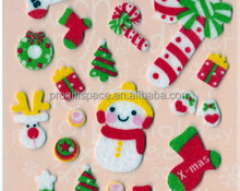 2017 new cheap indoor fabric ornaments handmade felt wholesale X-mas snowman deer tree sock candy gift decorations Christmas elf