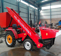 Self-propelled napier grass cutter corn silage forage harvester