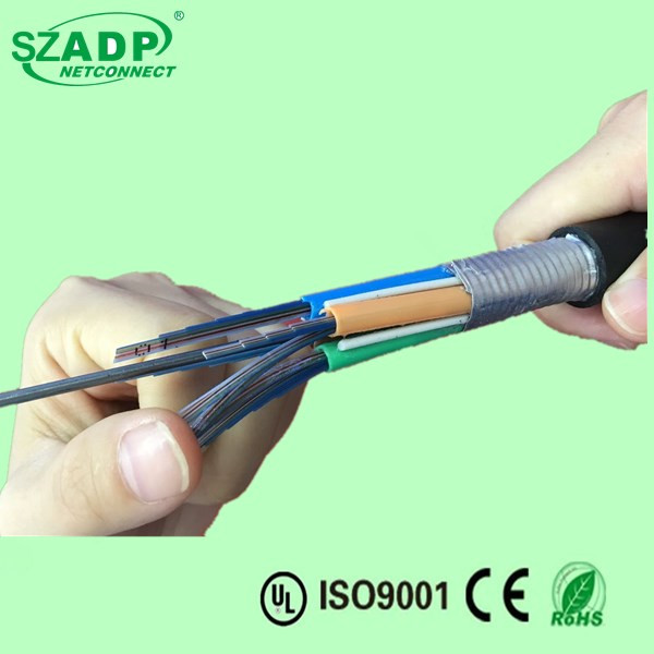 OEM Aerial&Duct Armored GYTDA Strands Loose Tube Fiber Optic Cable With Aluminum Tape Bibbon Communication Cable