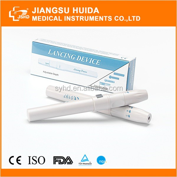 Disposable Adjustable Automatic Lancing Device Blood Lancet Pen