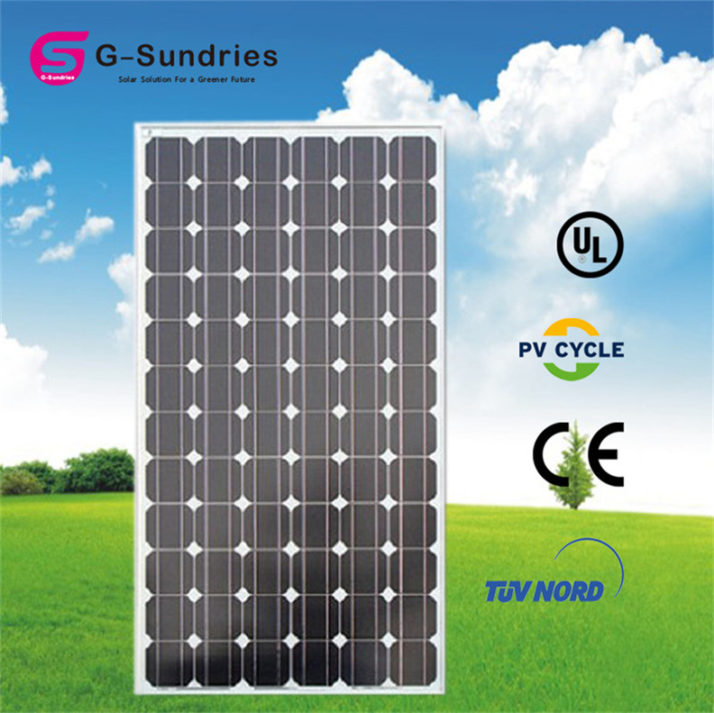 Own factory alex solar monocrystalline solar panel 190w