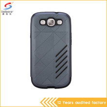 Cheap price Tpu and pc gray color shockproof back cases cover for samsung galaxy s3 case