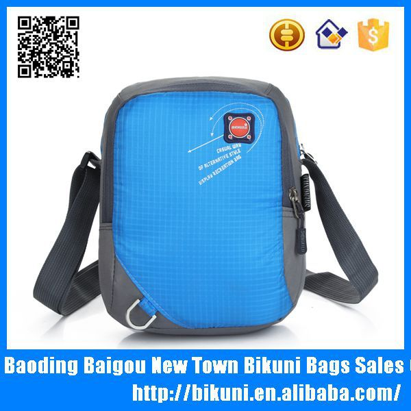 Fashion cheap long strap small nylon school messenger bag for teens