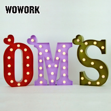 festival xmas decoration mini metal led sign letters lights for home decoration crafts