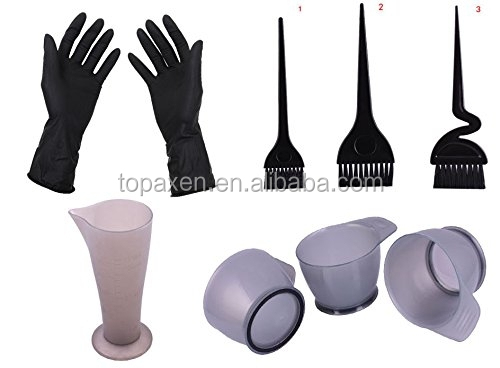 Salon Hair Coloring Dyeing Bleach Kit Dye Brush Comb Bowl Glove Tint Tool Kit