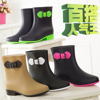 ladies winter boots for PVC rain boots women's ankle rubber boots
