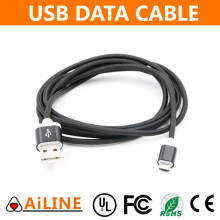 AiLINE Top Quality Black USB Charger Data Cable for Android Mobile Phones