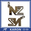 novelty die casting metal letter n keychain for promotion