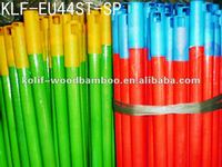 Plastic covered wooden mop stick with different plastic pattern and different cap