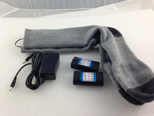 Electric heated ski socks with 3.7v 2200mah lithium battery