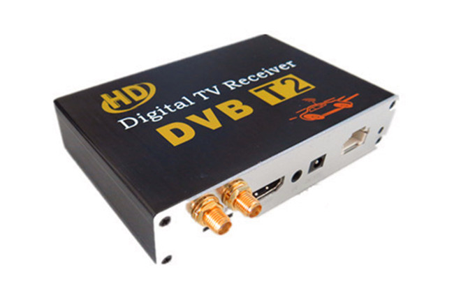 HD Double Tuner Car DVB-T2 Digital TV Receiver H.264 MPEG-4 Speed can reach 120-150km/h Use for Thailand Columbia Russia etc.