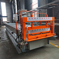 Trapezoidal aluminum trapezoid tile and floor strip roll forming machine joint hidden roof sheet making machine