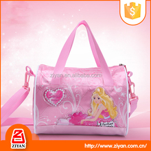 China wholesale pink color handheld small travel bag for girls