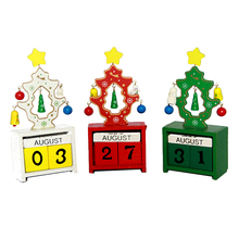 FQ brand Hot Sale christmas ornament 100% Environmental protection wooden advent calendar