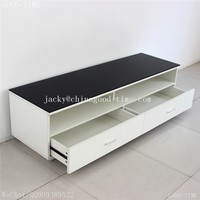 wooden grain melmained MDF particle board cheap large simple living room lcd tv stand wooden furniture