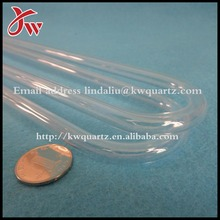 The U shape clear silica glass pipe
