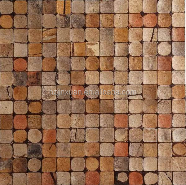Best quality antique wall art coconut shell mosaic tiles