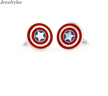 Fashion Jewelry Captain America Cufflinks For Men