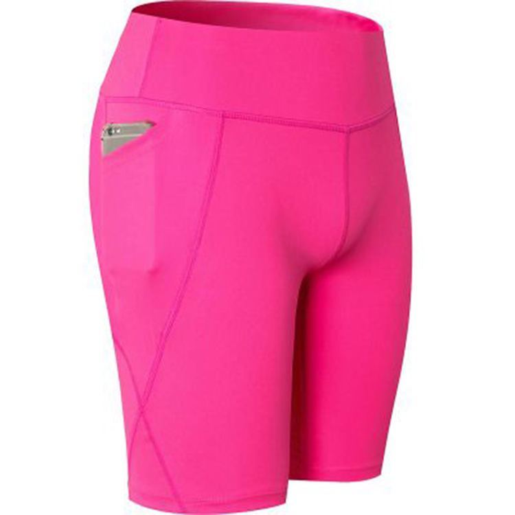 Wholesale custom high waisted fitness women sports shorts women gym leggings with pockets