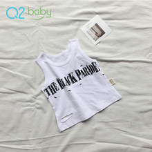 Q2-baby Baby Clothes Sleeveless Cotton Toddler Tank Top Baby Vest