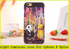 Most popular cartoon Jimmy comic book character pattern cover night-luminous case for iphone 6 plus