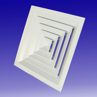 Square Ceiling Four ways Air Diffuser