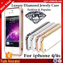 2016 Fashion Jewelry Diamond Bling Phone Case,Bling Bumper Case For iphone 4 4s Lady Case For iphone 4 4s Bumpers