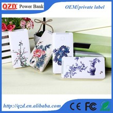 5000mah OEM built in cable picture printing power bank decorate cell phone charger