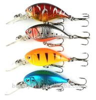 HOT sale 3D Eye Artificial Bait fishing lure Lures 10# Hook 5.5cm 4.6g crank Fishing Lure Hard Artificial Swim Baits 4 colour