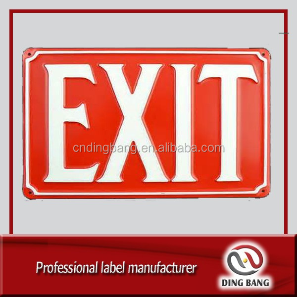 DB emergency exit sign