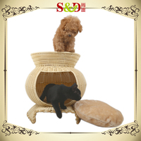Attractive eco-friendly 100% handicraft weaving kennel house