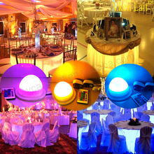 IR Remote Wireless Battery Operated Under Table Led Light Wedding Centerpieces for banquet Table Decoration Wedding Centerpiece