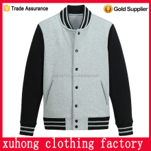 unisex varsity custom made baseball jacket pocket china factory
