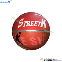 2016 streetk brand glossy basketball cheap rubber basketball