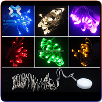2016 new design!Factory wholesale firefly lights string, smile face CR2032 battery pack ultra mini string light waterproof light