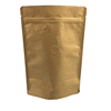 Doypack Ziplock Coffee Packaging Kraft Paper