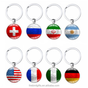 2018 Russia World Cup Country flag Football Keychain