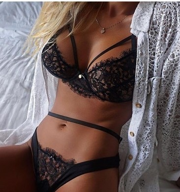 F10049A Ebay newest design underwear black lace sexy lingerie for women