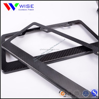 Wholesale USA American car 100% real Carbon fiber license plate frame