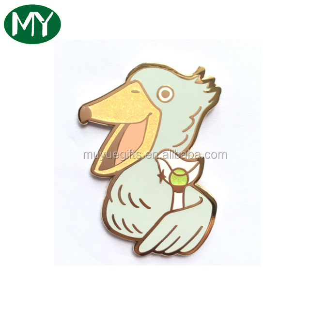 Customized Enamel Cute Duck Lapel Pin/metal Animal Pin Badge With High Quality