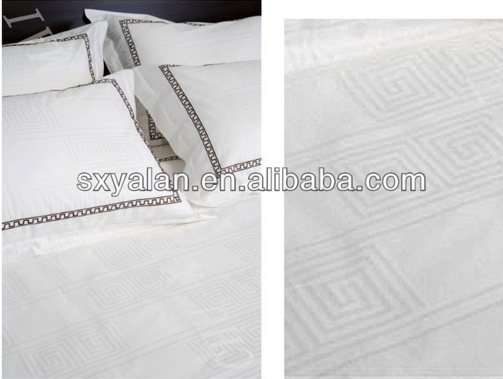 60s/300T 100% cotton jacquard fabric for hotel quilt cover,pillow case,flat sheet