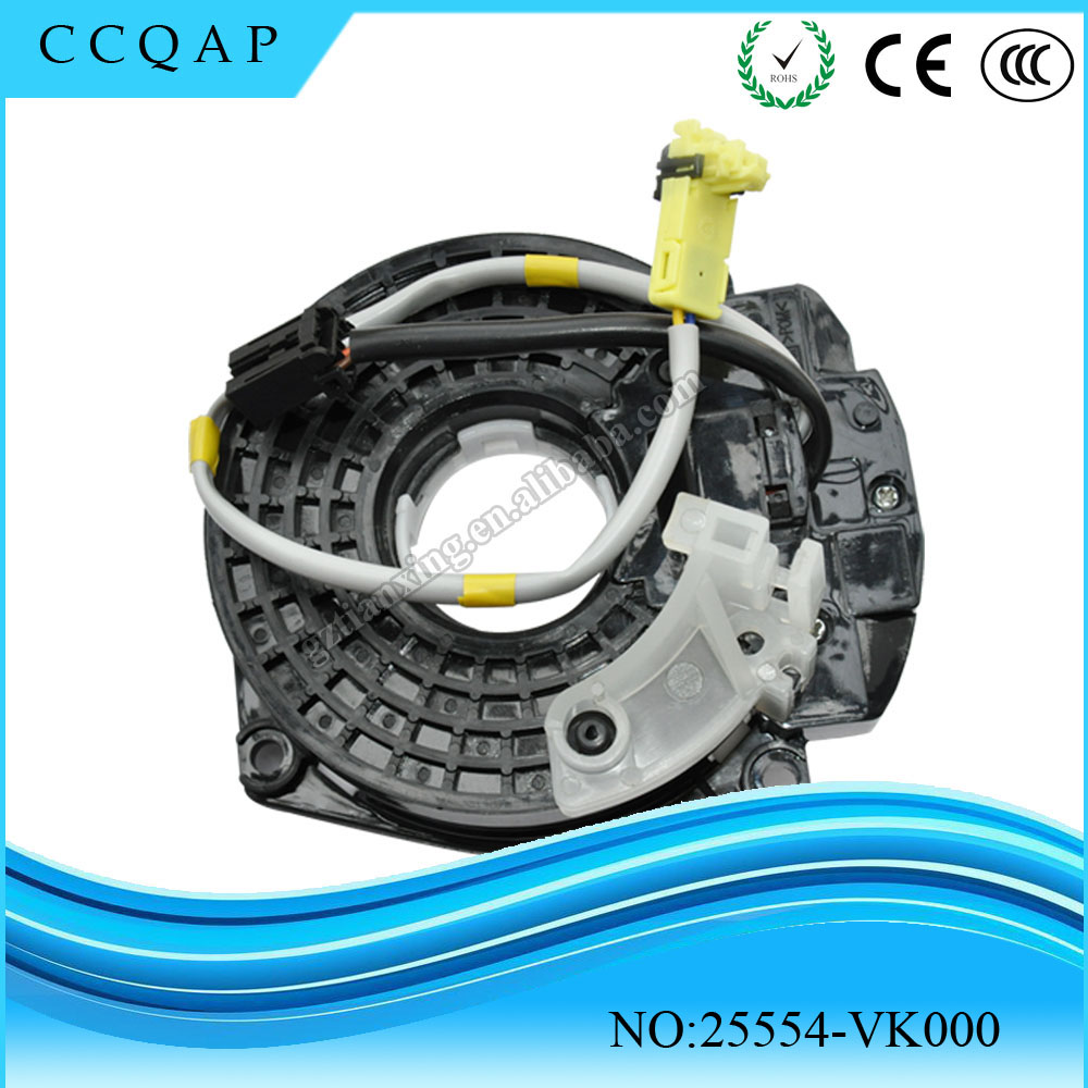 Car parts spiral cable sub-assy clock spring airbag 25554-VK000 for Japanese car Pathfinder
