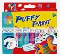 Puffy fabric paint for children box packing
