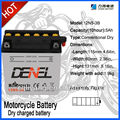 Two wheeler battery ;China motorcycle battery