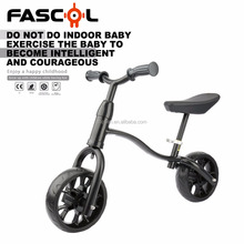 2018 Best Selling Fascol Aluminum Frame Portable Adjustable Outdoor Sports 2 Wheel Kids Balance Bike Bicycle Black Cheap