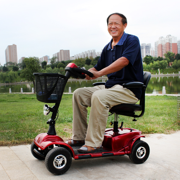 Alibaba cheapest disabled used 4 wheel power moped motorized electric scooter for elderly