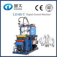 Automatic glass vase bottle making machine